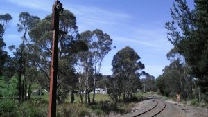 Old rail signals in the corridor near Nabowla